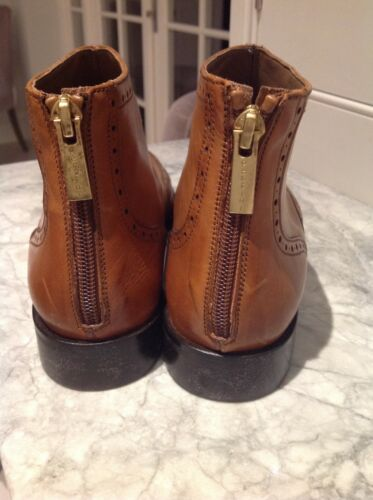 New Brown 39 Leather Boots In Color 0 Spain Ladies Ankel Made Size qZCaWYw