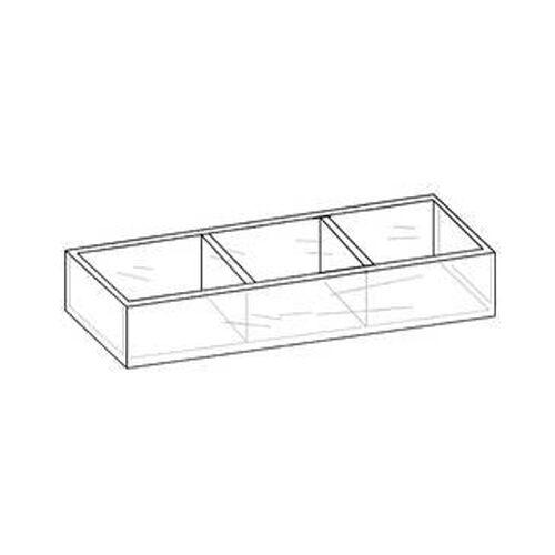 Lot of 12 Clear 3 Compartment Storage Keepsake Bin 12 w x 3 H