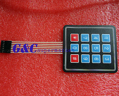 2PCS 4 x3 Matrix Array 12 Key Membrane Switch Keypad Keyboard GOOD QUALITY M7