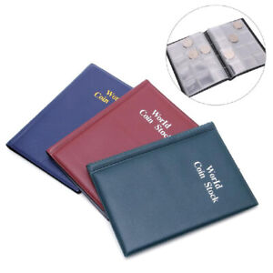 SALE-10-Pages-120-Coin-Collection-Holder-Pocket-Money-Tokens-Storage-Album-Book