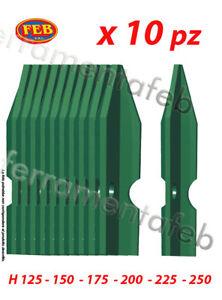 Paletti Per Recinzione.Dettagli Su 10 Pz Palo Paletto Recinzione Ferro Plastificato Verde A T X Rete Metallica 30x3