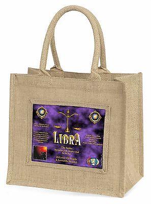 Libra Sternzeichen of der Tierkreis Große Natürliche Jute-einkaufstasche