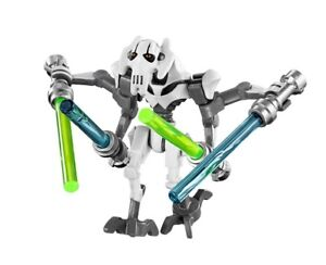 LEGO Star Wars General Grievous minifigure w// 4 Lightsabers Greivous minifig