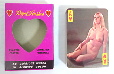 VINTAGE C. 1970'S ROYAL FLUSHES NUDE PLAYING CARDS (SEALED/NEVER OPENED) 52+2