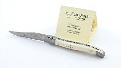 Laguiole en Aubrac 12 cm Knochen Taschenmesser matt