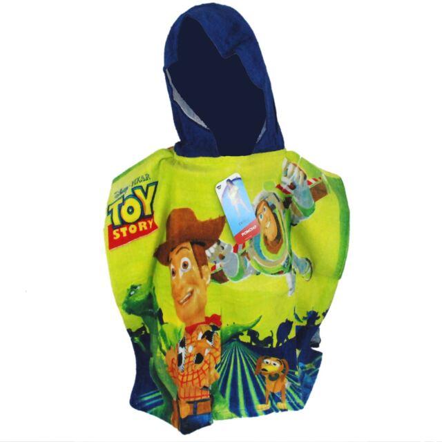 Toy Story Hooded Kids Poncho Disney Pixar Buzz Toy Story Beach Towel