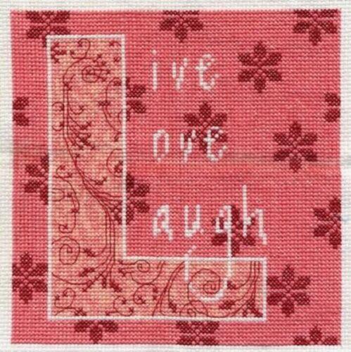 Bucilla Counted cross stitch Live Love Rire Nouveau Kit Aida Tissu DMC Floss 6 x 6