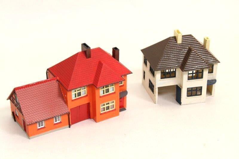 Airfix 195060s modellolos Houses  Annexe Plastic Kit Built Assembled costruziones V10