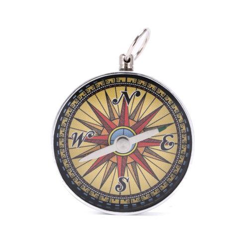 1x PortableOutdoor Kompass Survival Tools mit Schlüsselanhänger Ring ZJABJMWG