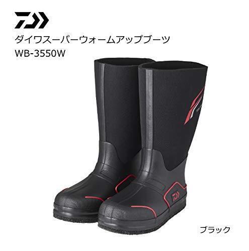 botas De Pesca Daiwa súper Warm Up WB-3550W Negro Clima Frío Japón EMS Nuevo