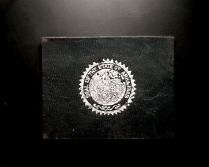 """OLD TOBACCO LEATHER PREMIUM """"SEAL OF THE STATE OF ARKANSAS"""""""