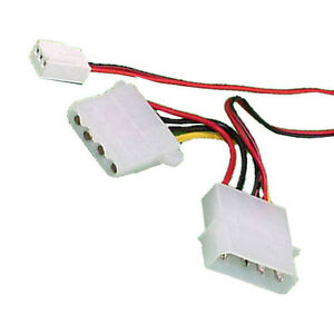 s l300 power cable molex y 4 pin to 3 pin female pc fan cable adaptor ebay
