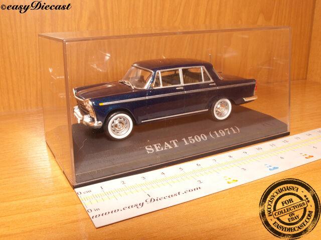 SEAT 1500 Blu Scuro 1971 1:43 Nuovo di zecca