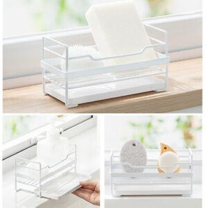 Drain-Rack-Dish-Drainer-Tray-Kitchen-Sink-Utensil-Draining-Holder-Sponge-Rack