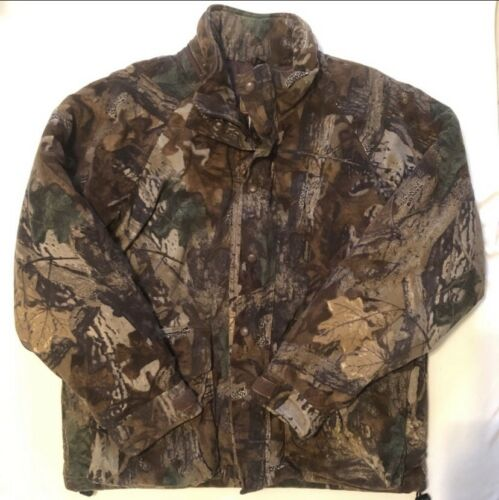 Duxbak Realtree Mens Used Hunting Camo Jacket Size