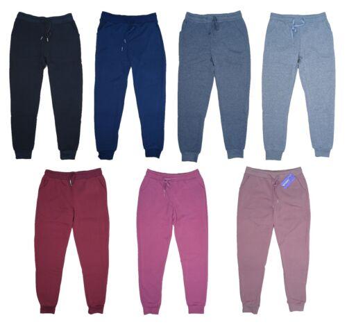 Women/'s Fleece Lounge Pants Cotton Sweatpants w// Pockets Cuffed Size M-XXL New