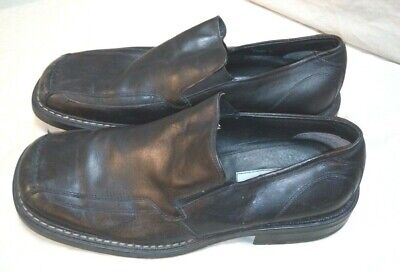 aldo black leather loafers dress casual shoes men's size