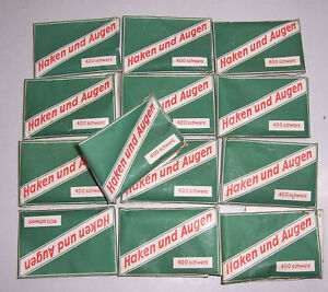 13 x DDR Packung Haken und Augen Koh-I-Noor Dresden 1953 in OVP ! (S8