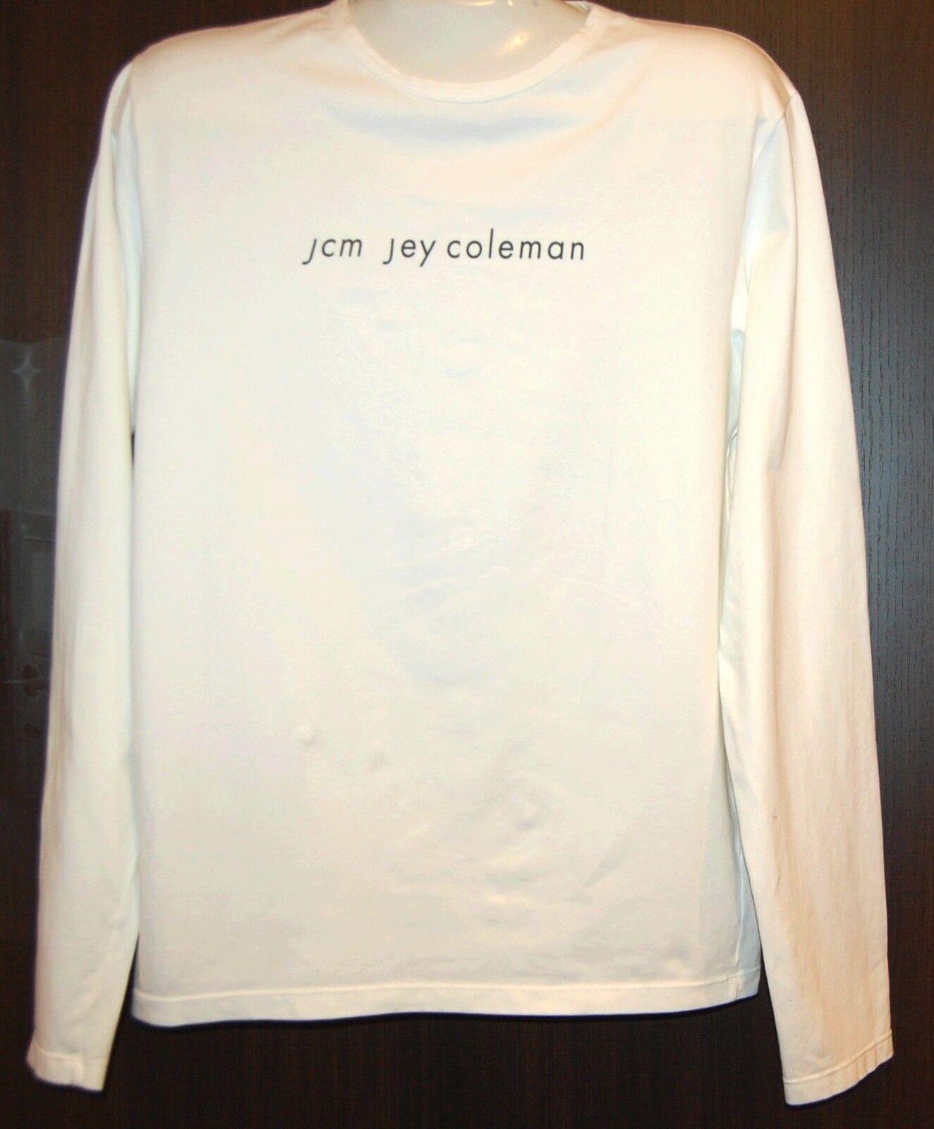 Jcm Jey Coleman Off White  Cotton Men's T-Shirt Long Sleeve Sz 2XL