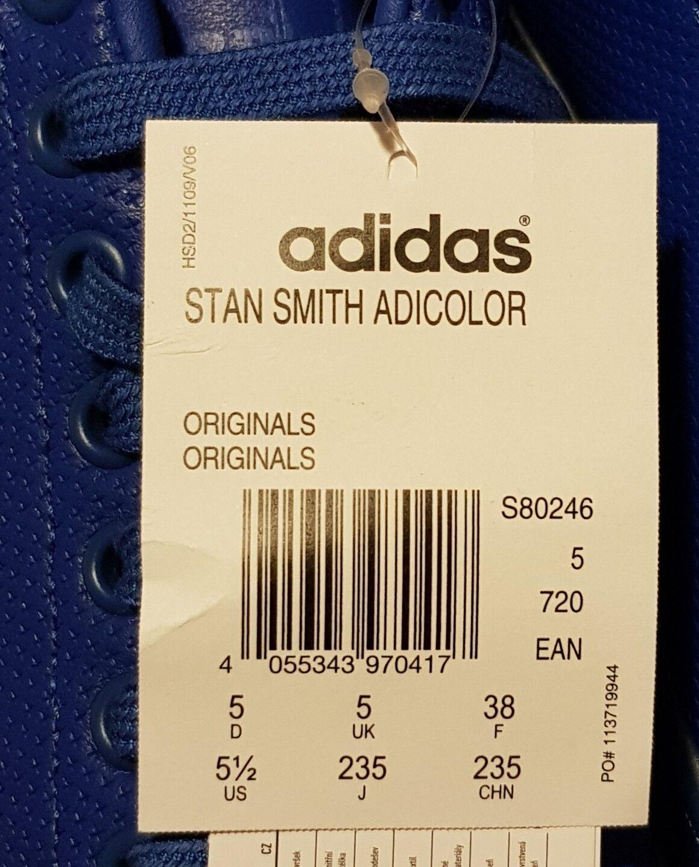 Adidas originali stan smith adicolour blu dimensioni dimensioni dimensioni 5 () nuova di zecca contag   Cliente Al Primo  52f825