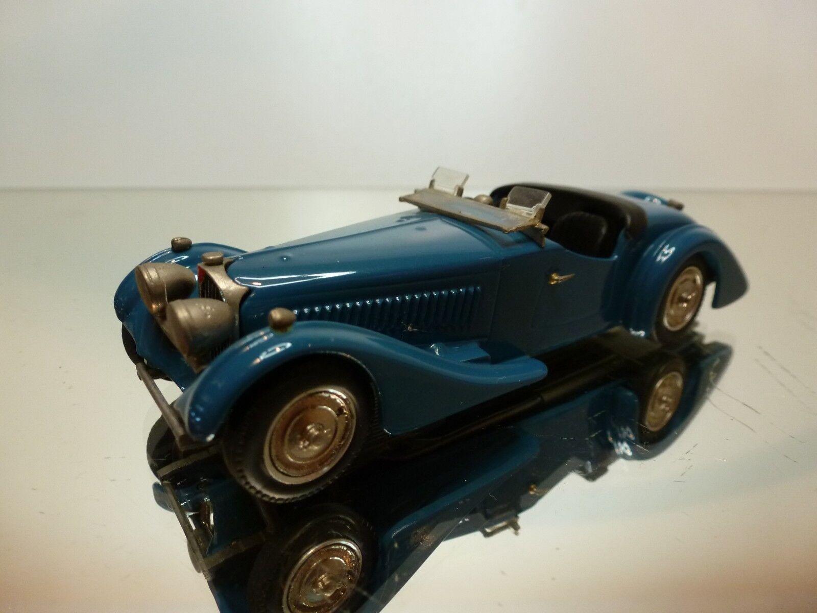 WESTERN MODELS 39 BUGATTI 57 CORSICA TOURER 1938 - bleu 1 43 - VERY GOOD - 2