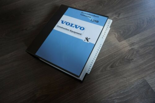 Volvo L25B REPARATURHANDBUCH WERKSTATTHANDBUCH Teilekatalog andere Modelle
