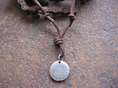 Hell Surferkette Halskette Leder Braun Herren Damen Neu Kette Lederhalskette Amulett