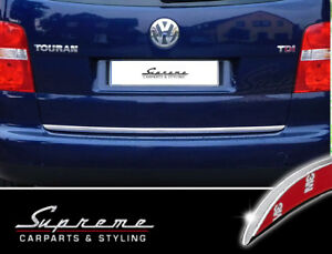 VW-Touran-1T-03-06-Chrom-Zierleiste-3M-Tuning-Heckleiste-Kantenschutz