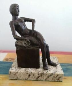 """HENRI MATISSE BRONZE SCULPTURE """"SEATED BATHER"""" SIGNED AND NUMBERED"""