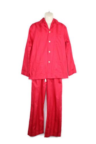 Derek Rose Mens Pajama Set Size 40 US Medium Red S