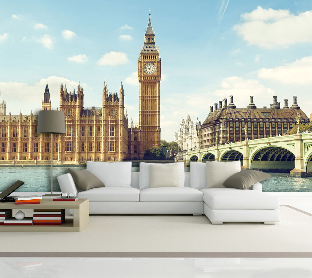 3D Luxury Big Ben 43 Wall Paper Wall Print Decal Wall Deco Indoor Wall