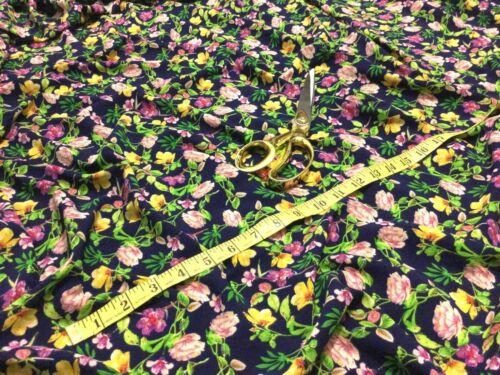 * Nuevo L//Vestido Estampado Floral De Microfibra Peso//Tela Artesanal envío Gratis *