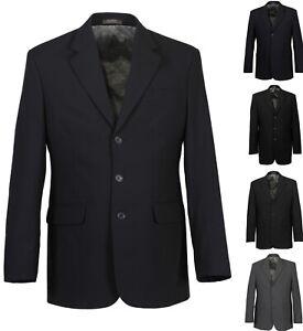 Herren-Classic-Wolle-Sakko-Regular-Fit-Dreiknopf-Blazer-Jacke-Anzug-Langgroesse
