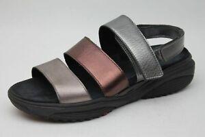 Xsensible-Sandalen-silber-bronze-Leder-komfort-Schuhweite-G-Gr-43-UK-9