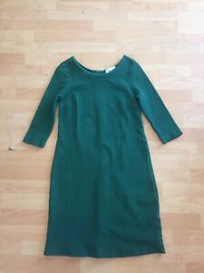bced8425 Image is loading Ganni-Anthropologie-Dark-Green-Dress-Sz-M-Casual-
