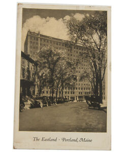 1930 RPPC Eastland Hotel Portland Maine Postcard