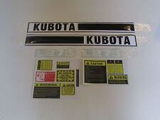 Kubota L275 tractor decal set with caution decal kit