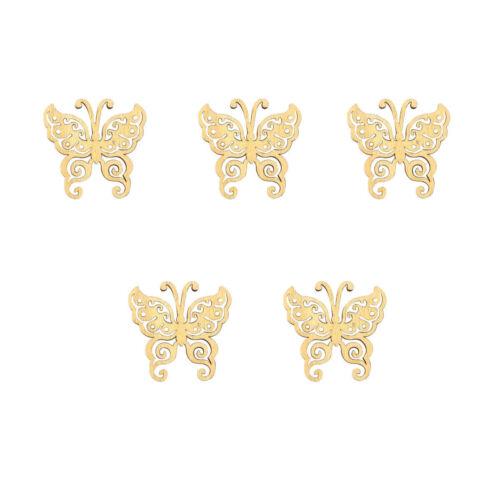 10pcs in legno farfalla Card Making Scrapbooking Abbellimenti artigianali decorare