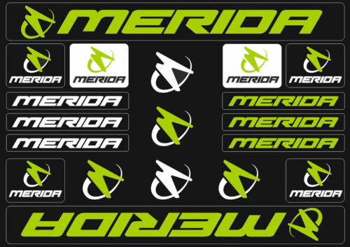 Merida Mountain Bicycle Frame Decals Stickers Graphic Adhesive Set Vinyl Green