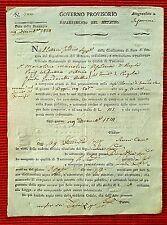 G39-GOVERNO PROVVISORIO, DIPARTIMENTO DEL METAURO, RICHIESTA DEPOSIZIONE, 1814