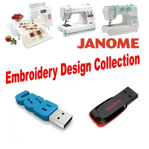 Janome JEF USB Flash Drive Embroidery Designs