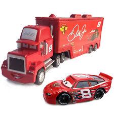 MT Disney Cars No.8 Dale Earnhard Mack Hauler Truck & Racer Diecast 1:55 Loose