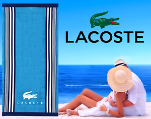 LACOSTE-BEACH-TOWEL-36-034-x-72-034-BRAND-NEW-WITH-TAGS-CROC-100-AUTHENTIC