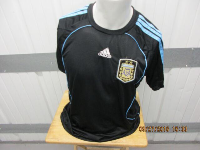 VINTAGE ADIDAS ARGENTINA NATIONAL FOOTBALL TEAM SEWN XL BLUE JERSEY 2007 09  KIT c7bef49d1