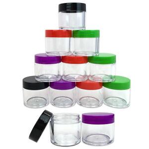 12pcs-30g-30-gram-Large-empty-clear-plastic-Sample-cream-makeup-Jar-1-oz-30ml