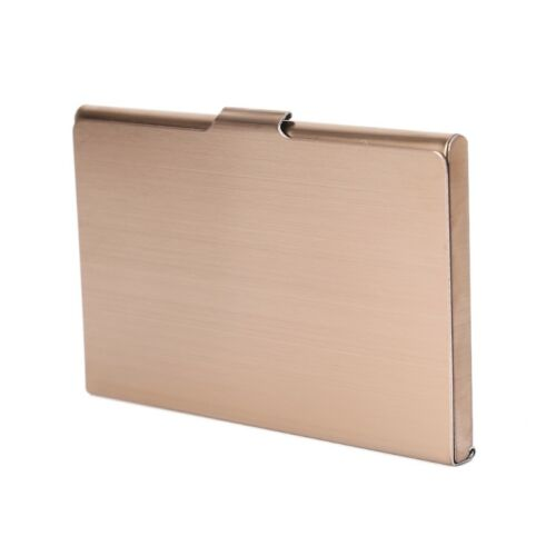 Business Name Credit ID Card Holder Metal Stainless Steel Pocket Box Case