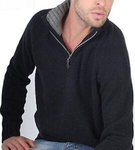 colletto 8 contrasto a Troyer L con a Balldiri Cashmere strati nero grigio 100 IqUBn0