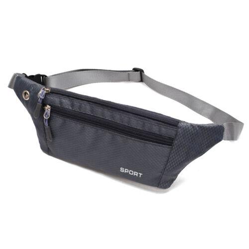 10Color Running Bum Bag Fanny Pack Travel Waist Money Zip Hiking Pouch Wallet