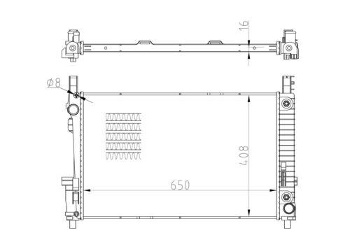 W169 Wasserkühler MERCEDES-BENZ A-KLASSE A 150