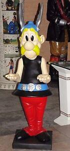 Asterix-Figur-Deko-Skulptur-Werbefigur-Lebensgross-Obelix-Wunderschoene-Statue
